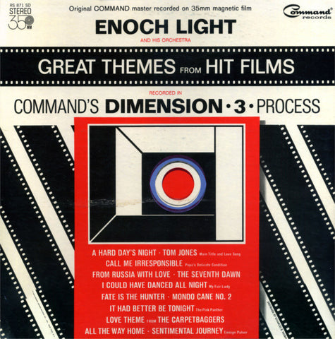 Enoch Light And His Orchestra ‎– Great Themes From Hit Films In Dimension •3• (1964) Cheap Vinyl Record