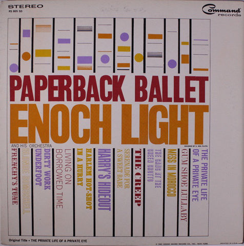 Enoch Light And His Orchestra ‎– Paperback Ballet (1963) Cheap Vinyl Record