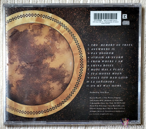 Enya ‎– The Memory Of Trees CD back cover