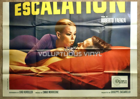 Bottom Section of Escalation Original 1968 Italian 4F Movie Poster With Claudine Auger