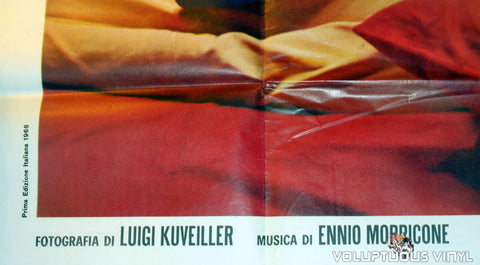 Bottom Left Corner of Escalation Original 1968 Italian 4F Movie Poster With Claudine Auger