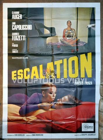 Escalation Original 1968 Italian 4F Movie Poster With Claudine Auger