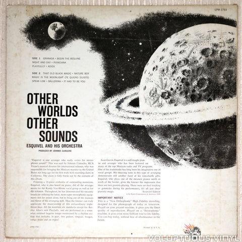 Esquivel And His Orchestra ‎– Other Worlds Other Sounds - Vinyl Record - Back Cover