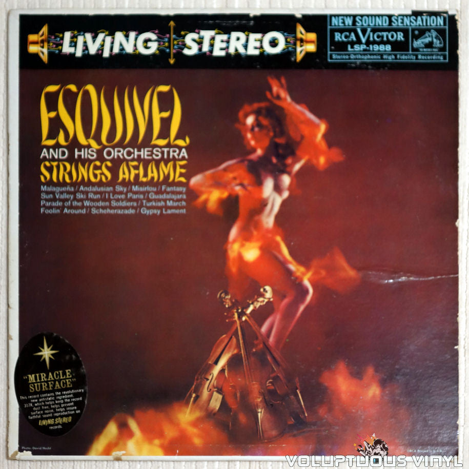 Esquivel And His Orchestra ‎– Strings Aflame - Vinyl Record - Front Cover