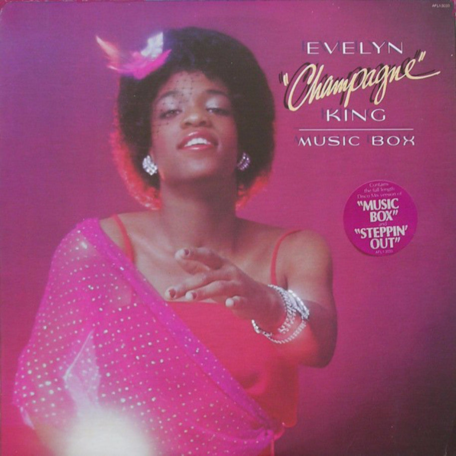 "Evelyn ""Champagne"" King ‎– Music Box - Vinyl Record - Front Cover"
