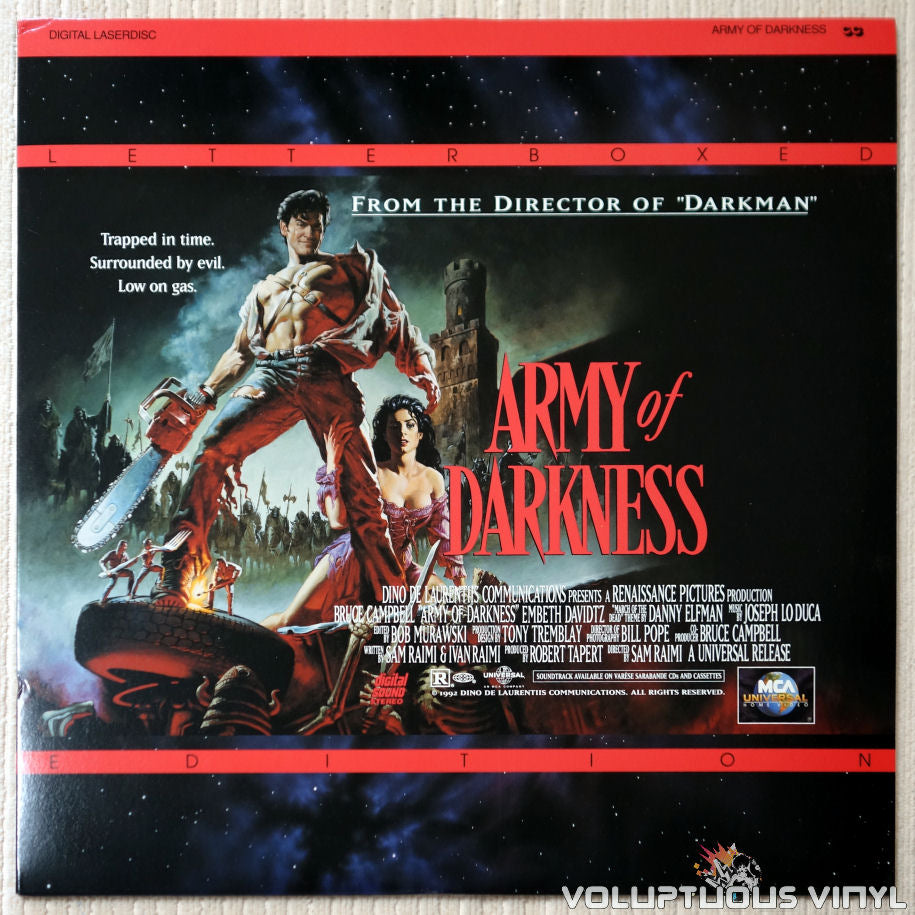 Evil Dead 3: Army of Darkness - LaserDisc - Front Cover
