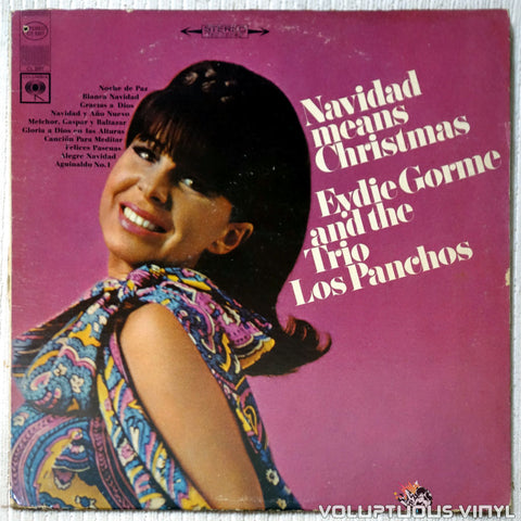 Eydie Gorme And The Trio Los Panchos ‎– Navidad Means Christmas vinyl record front cover