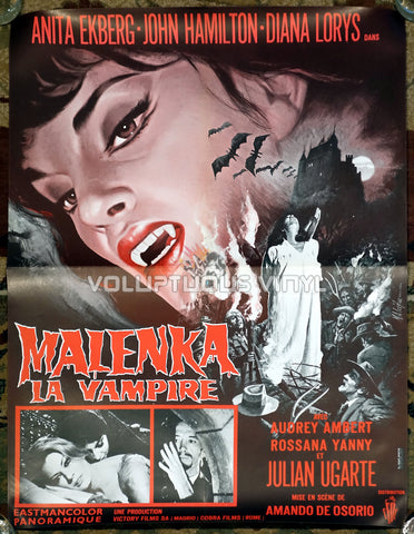Fangs of the Living Dead (1969) - French Affiche - Anita Ekberg Vampire