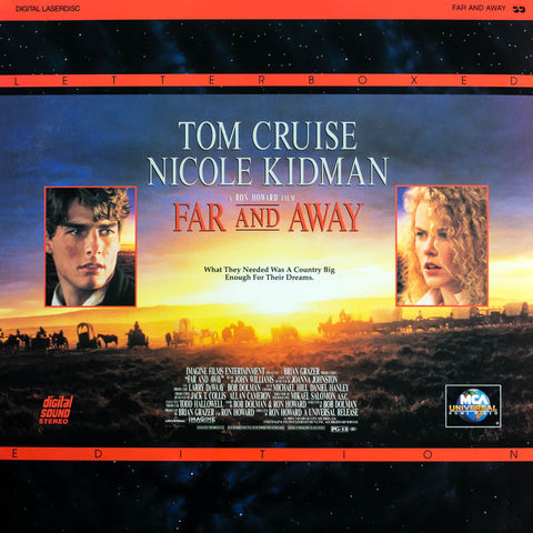 Far and Away (1992) Tom Cruise, Nicole Kidman LaserDisc