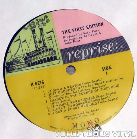 Kenny Rogers & The First Edition Vinyl Record Reprise Label