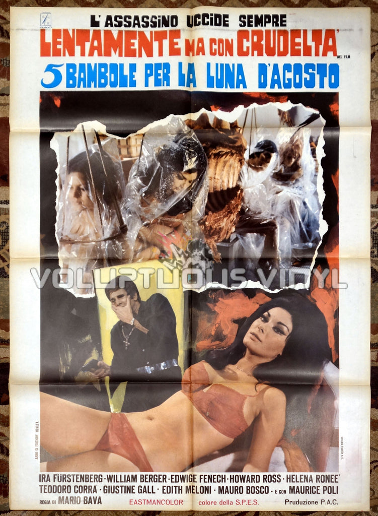Five Dolls For An August Moon Italian movie poster Edwige Fenech lingerie