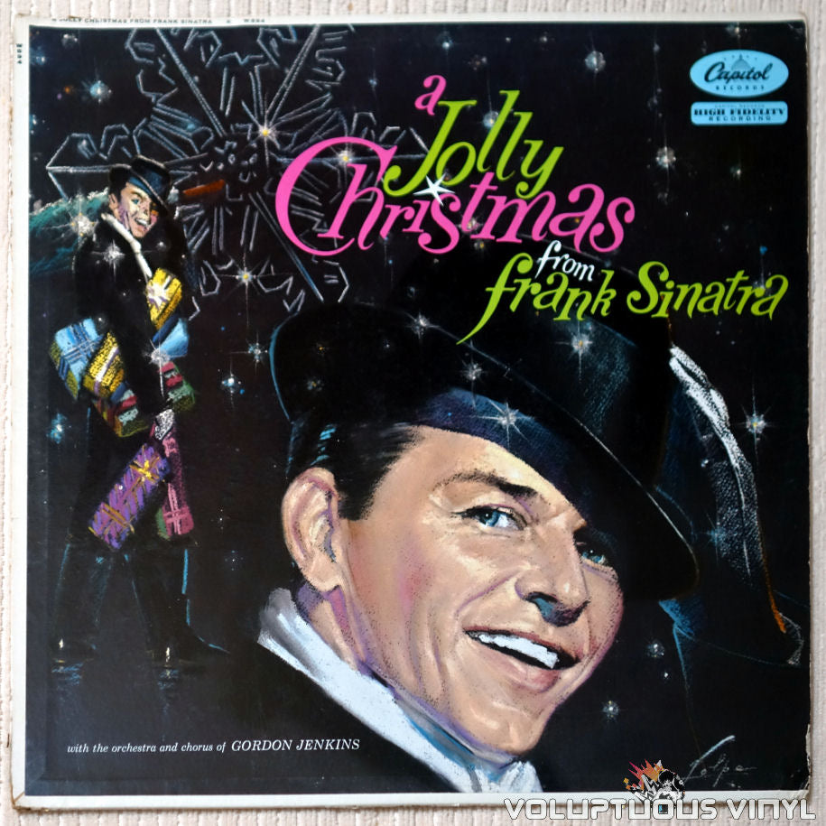 Frank Sinatra ‎– A Jolly Christmas From Frank Sinatra - Vinyl Record - Front Cover