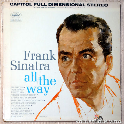 Frank Sinatra ‎– All The Way vinyl record front cover