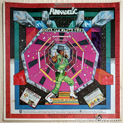 Funkadelic ‎– Uncle Jam Wants You - Vinyl Record - Back Cover