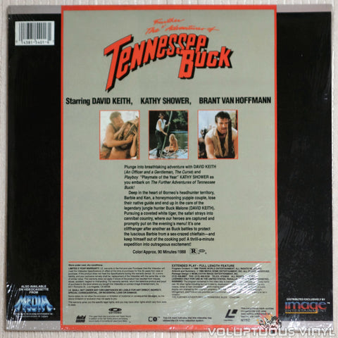 Further Adventures of Tennessee Buck - Laserdisc - Back Cover
