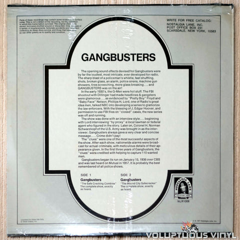 Unknown Artist ‎– Gang Busters - Vinyl Record - Back Cover