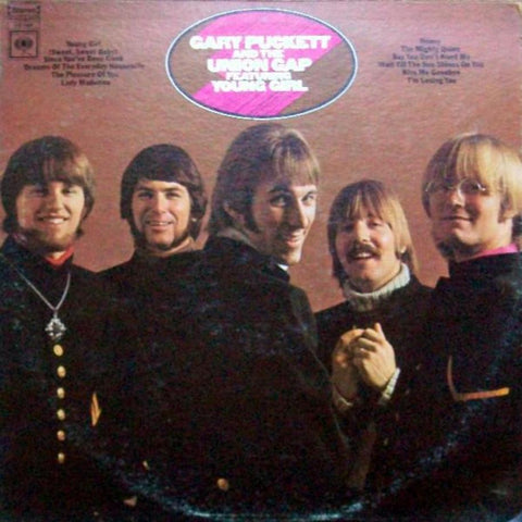 "Gary Puckett And The Union Gap ‎– Gary Puckett And The Union Gap Featuring ""Young Girl"" vinyl record front cover"