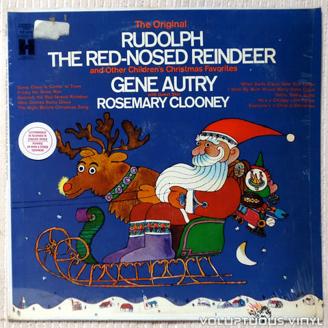 Gene Autry With Guest Star Rosemary Clooney ‎– Rudolph The Red-Nosed Reindeer vinyl record front cover