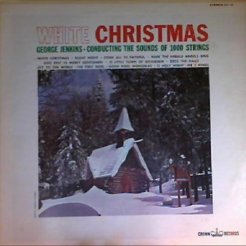 George Jenkins, The Sounds Of 1000 Strings ‎– White Christmas vinyl record front cover