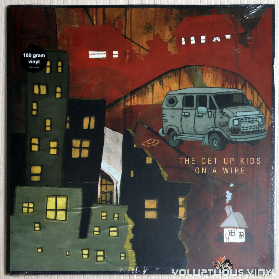 Get Up Kids ‎– On A Wire - Vinyl Record - Front Cover