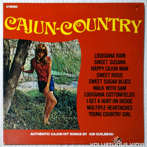 Gib Guilbeau ‎– Cajun Country vinyl record front cover