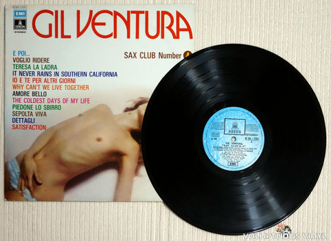 Gil Ventura ‎– Sax Club Number 4 - Vinyl Record Nude Cover