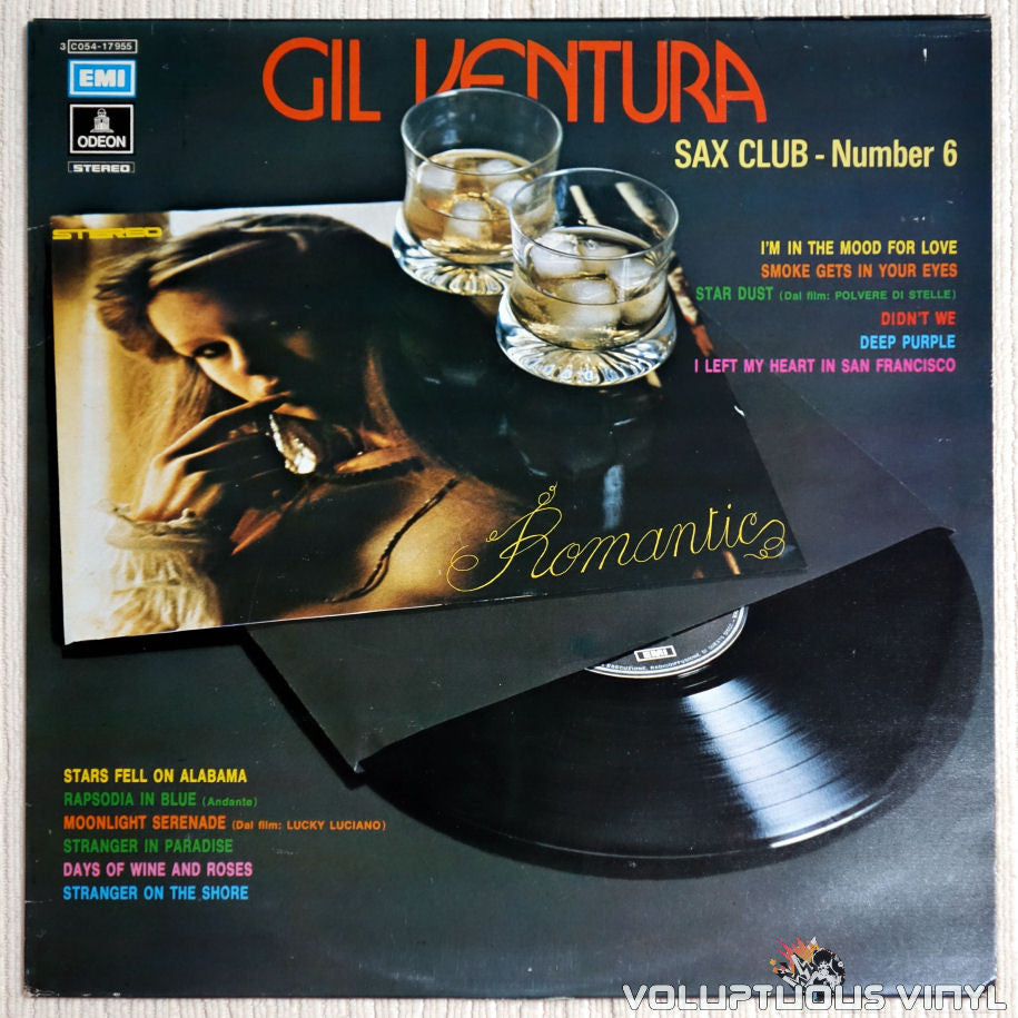 "Gil Ventura ‎– Sax Club - Number 6 ""Romantic"" - Vinyl Record - Front Cover"