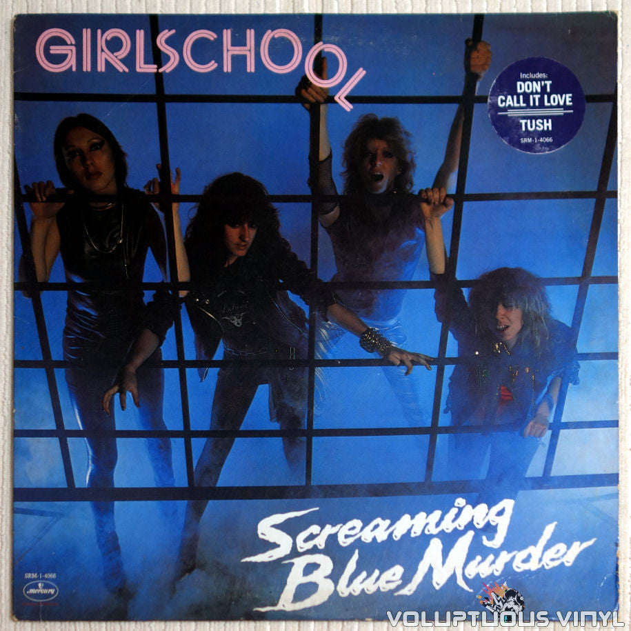 Girlschool ‎– Screaming Blue Murder - Vinyl Record - Front Cover