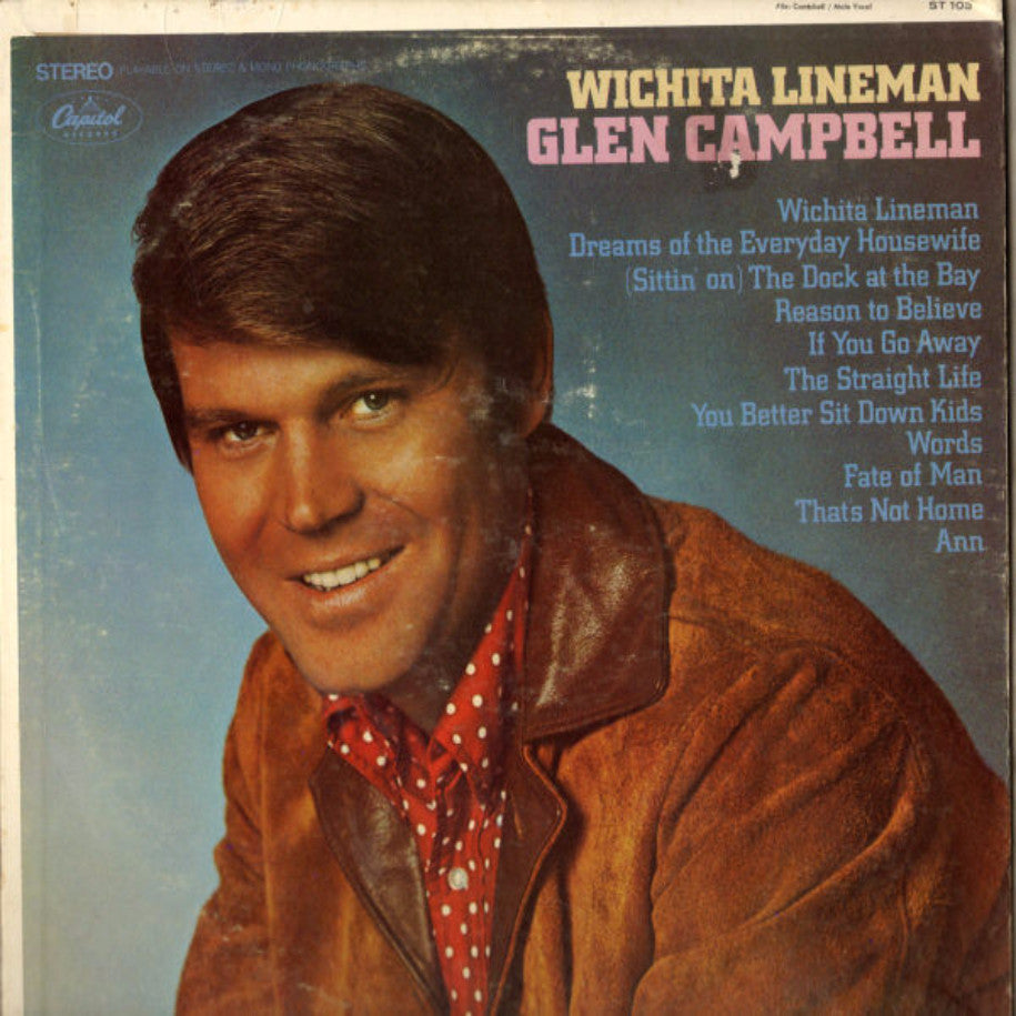 Glen Campbell ‎– Wichita Lineman - Vinyl Record - Front Cover