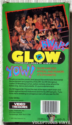 GLOW Gorgeous Ladies of Wrestling VHS tape back cover