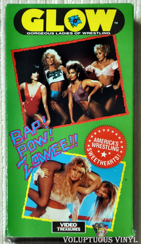 GLOW Gorgeous Ladies of Wrestling VHS tape front cover
