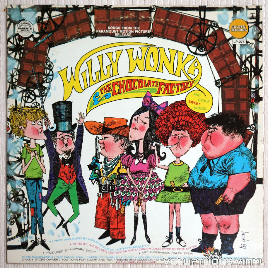 Golden Orchestra And Chorus ‎– Willy Wonka And The Chocolate Factory And Other Sweet Songs - Vinyl Record - Front Cover