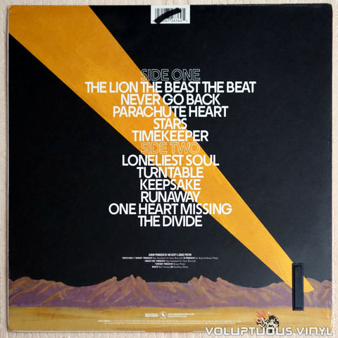 Grace Potter & The Nocturnals ‎– The Lion The Beast The Beat - Vinyl Record - Back Cover