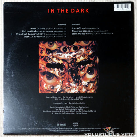Grateful Dead ‎– In The Dark - Vinyl Record - Back Cover