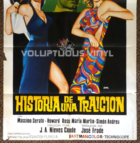 The Great Swindle 1971 Spanish 1-Sheet Movie Poster for Spanish Giallo with Marisa Mell & Sylva Koscina - Bottom Half