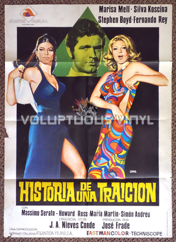 The Great Swindle 1971 Spanish 1-Sheet Movie Poster for Spanish Giallo with Marisa Mell & Sylva Koscina
