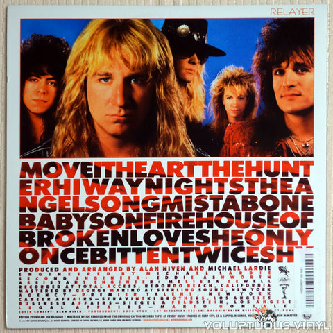 Great White ‎– Twice Shy - Vinyl Record - Back Cover
