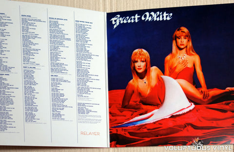 Great White ‎– Twice Shy - Vinyl Record - Inner Gatefold