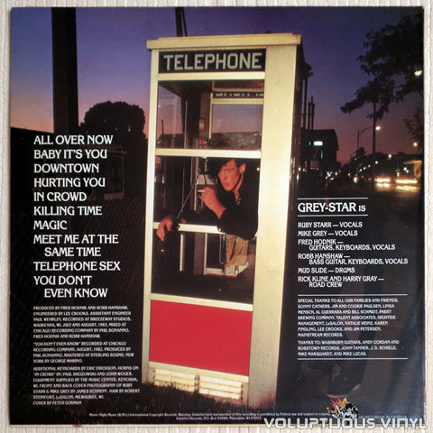 Grey-Star ‎– Telephone Sex - Vinyl Record - Front Cover