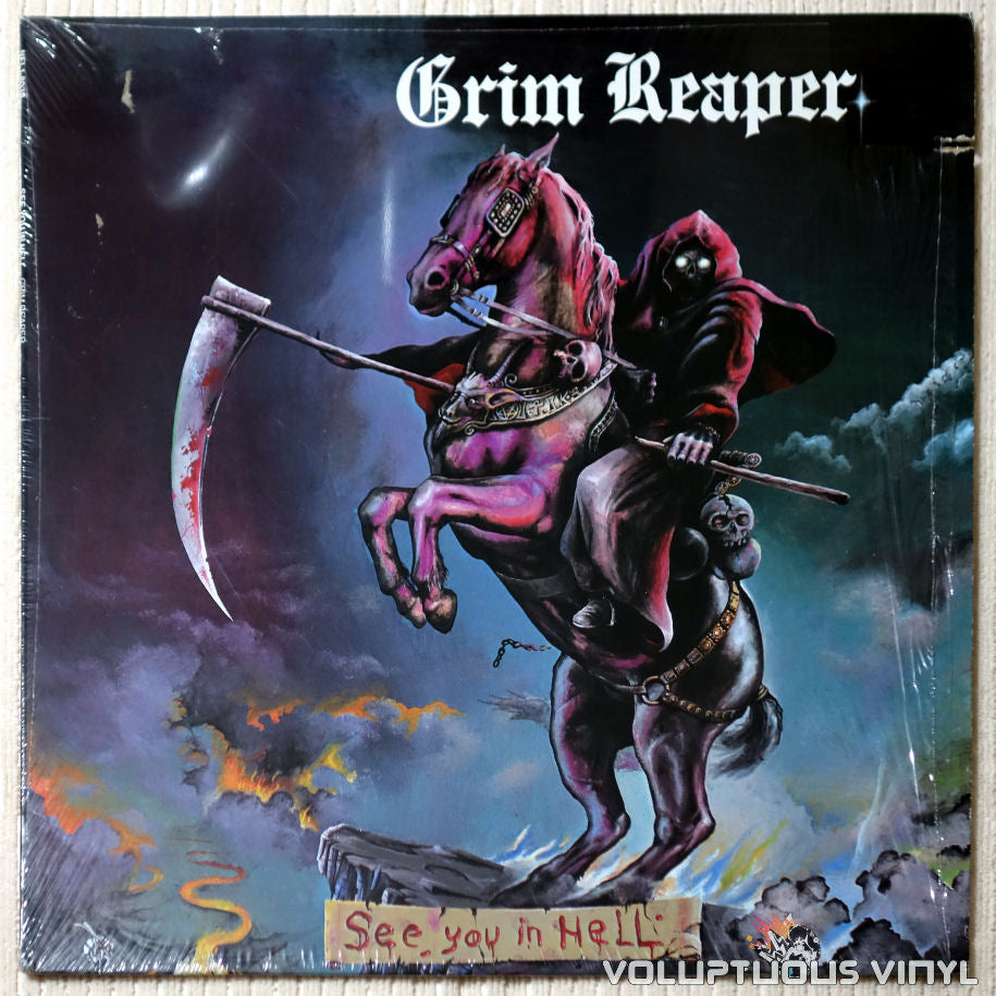 Grim Reaper ‎– See You In Hell - Vinyl Record - Front Cover