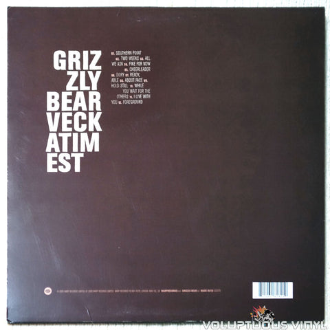 Grizzly Bear ‎– Veckatimest vinyl record back cover