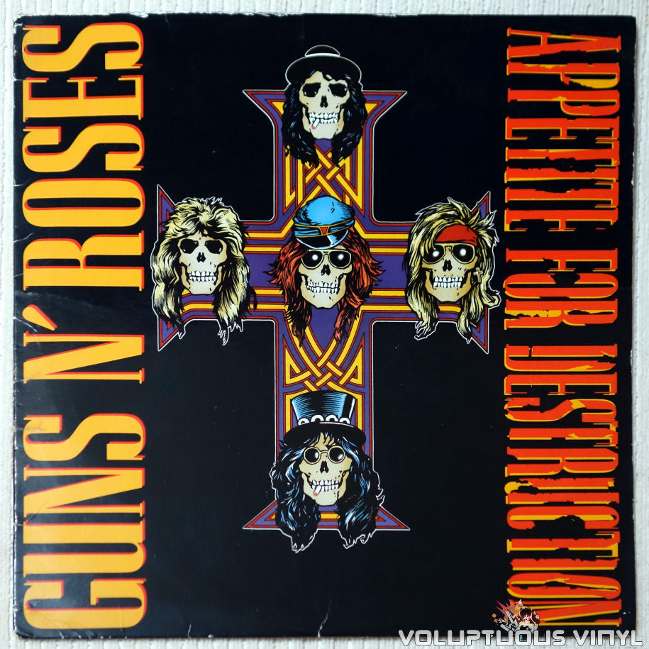 Guns N' Roses ‎– Appetite For Destruction - Vinyl Record - Front Cover