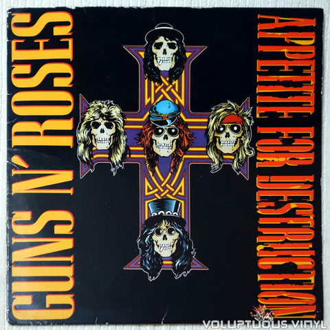 Guns N' Roses ‎– Appetite For Destruction vinyl record front cover