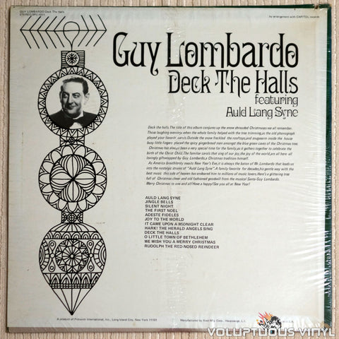 Guy Lombardo ‎– Deck The Halls - Vinyl Record - Back Cover