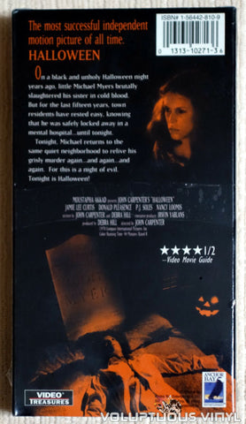 Halloween - VHS - Back Cover