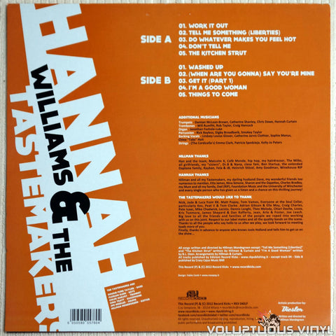 Hannah Williams & The Tastemakers ‎– A Hill Of Feathers - Vinyl Record - Back Cover