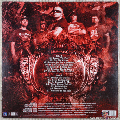Hatebreed ‎– Hatebreed vinyl record back cover