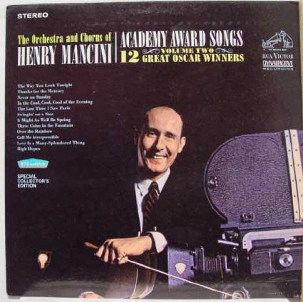 Henry Mancini And His Orchestra And Chorus ‎– Academy Award Songs, Vol. 2 (1965) Cheap Vinyl Record
