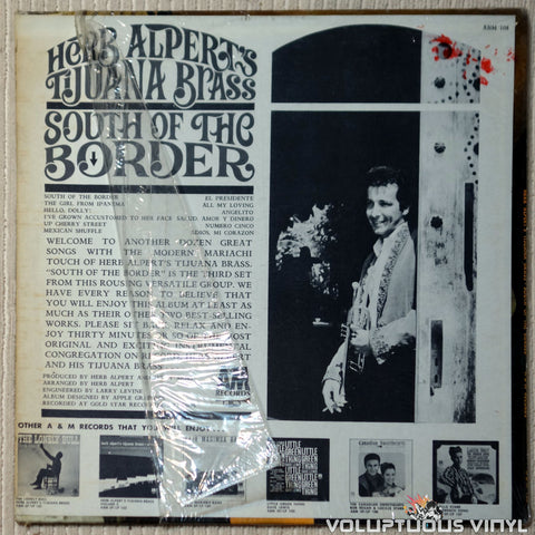 Herb Alpert's Tijuana Brass ‎– South Of The Border vinyl record back cover