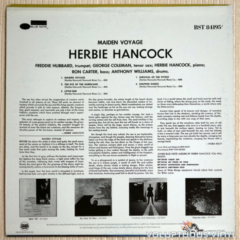 Herbie Hancock ‎– Maiden Voyage - Vinyl Record - Back Cover